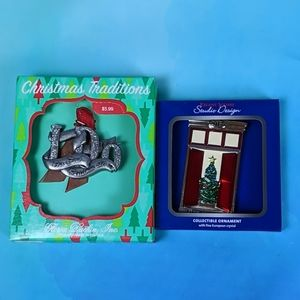 2 Our First Christmas Ornaments 2017 New in Box
